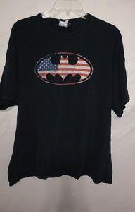 Batman Big Black T-shirt Sz XXL